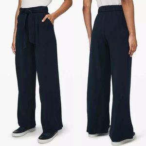 Lululemon 8 True Navy Noir Pull on Pants Wide Leg